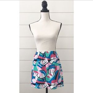 Vintage 80s Pop Art Mini Tennis Skirt